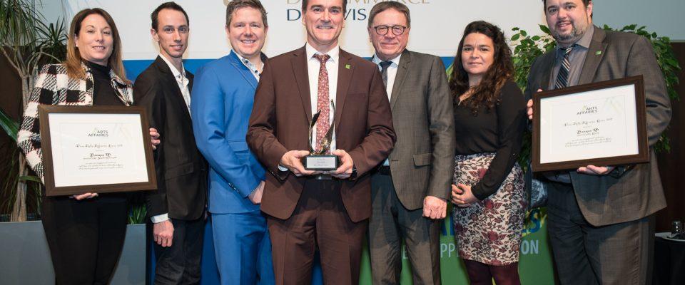 Lauréat prix Arts Affaires Lévis 2018 Groupe Banque TD